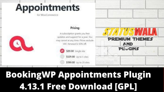 BookingWP Appointments Plugin 4.13.1 Free Download [GPL]