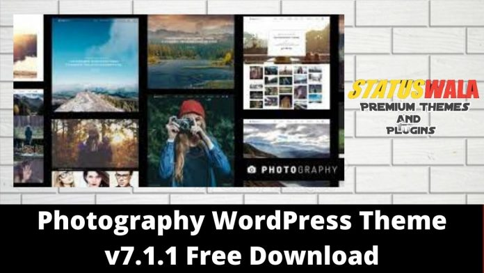 Photography WordPress Theme v7.1.1 Free Download